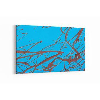 Schilderij - Blue abstract art — 90x60cm