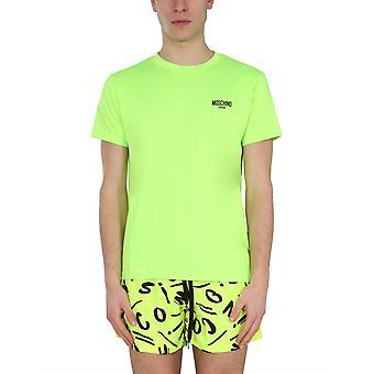 Moschino 191023370026 Mænd's Gul Bomuld T-shirt