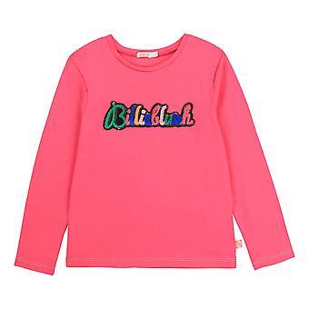 Billieblush tytöt vaaleanpunainen pitkähihainen t-paita u15795/49n