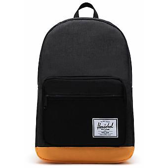 Herschel Pop Quiz 22L Backpack - Black Crosshatch/Black/Blazing Orange