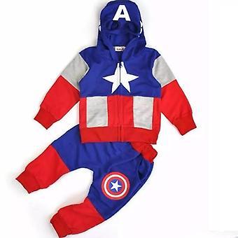 素晴らしいキャプテンアメリカフーディセーターとパンツの衣装