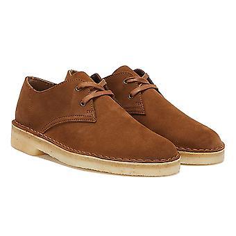كلاركس الصحراء خان سويد منس براون أحذية