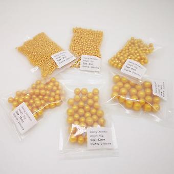 Spiselige gull perler perler perle fondant diy kake baking sprinkles bryllup