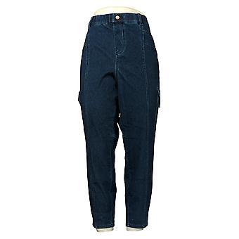 Legacy Women's Petite Jeans Denim & Twill Cargo Side Pocket Blue A377859
