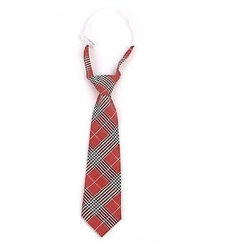 Női nyakkendő karácsonyra, vékony kockás nyakkendő