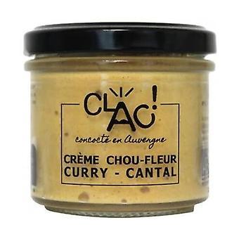 オーガニックチーズスプレッドカレーカリフラワークリームとカンタル100グラム