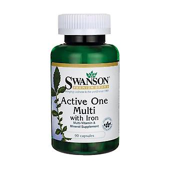 Active One Multivitamin with Iron 90 capsules