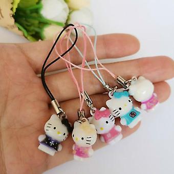 50pcs/lot Lovely Small Animal Kids Dolls Keychains Bag Purse