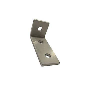 M10 3 Hole Angle Plate (1326) For Channels T304 Stainless Steel (as Unistrut / Oglaend)
