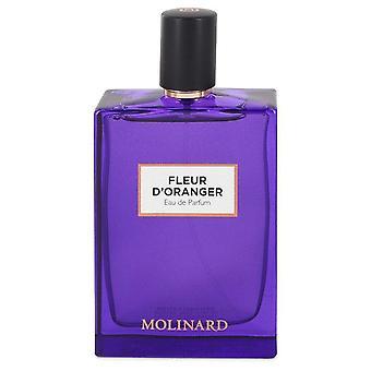 Molinard Fleur D'oranger Eau De Parfum Spray (Unisex Tester) By Molinard 2.5 oz Eau De Parfum Spray