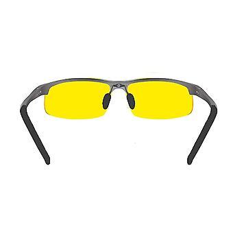Nacht fahren Brille - halb polarisierte gelbe Farbton Vision Anti Blendobjektiv Uv400