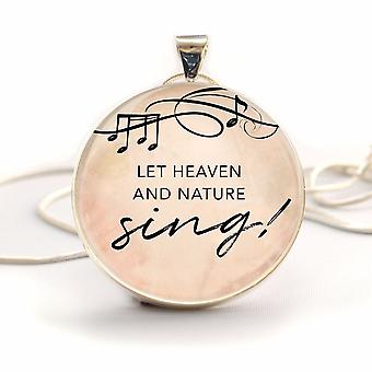 """Christmas """"let Heaven And Nature Sing!"""" Silver-plated Christian"""