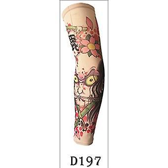 Gefälschte Tattoo Arm Sleeve Straight Style Fashion Design Unisex Uv Schutz