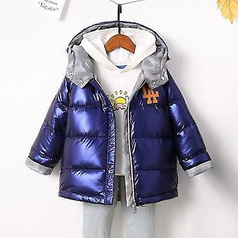 Kids Jacket Warm Hooded Coat 90% Duck Down Double-sided Jackets Coats