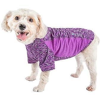 Haustier Leben aktiv 'Warf Speed' Heathered Ultra-Stretch sportliche Leistung Hund T-Shirt, lila Heather und lila - X-Large