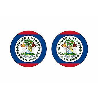 2x stick klistermärke rund cocarde flagga belize
