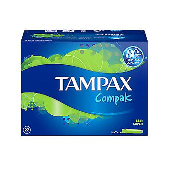 Tampax Tampax Compak Tampón Super 22 Uds dla kobiet