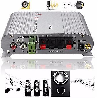 Booster stereoforstærker til bil subwoofer hjem Hi-fi 2,1 12v 2a
