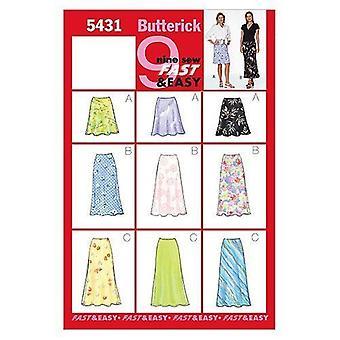 Butterick ompelu kuvio 5431 Misses Hame Koko 12-16 Leikkaamaton