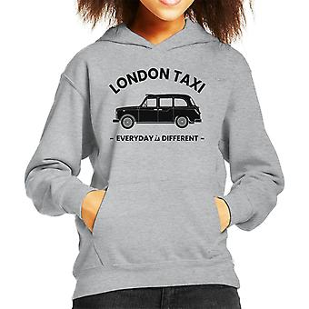 London Taxi Company Everyday är olika black text kid's hooded sweatshirt