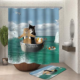 """""""Catanic"""" Funny Cats Shower Curtain"""