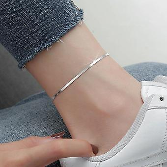 Sterling Silver Snake Chain Pendant Link Chain Anklet