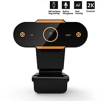 Wsdcam Auto Focus 2K HD Webcam Web Camera With Microphone Cameras for Live Broadcast Video(2k)