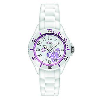 S.Oliver SO-2755-PQ Ceas de mână, Fată, Silicon, Alb
