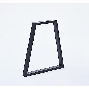 Set Trapez Tischbeine Möbel Beine (2 Stück) 40 cm Metall (weiße Beschichtung)