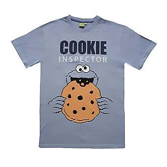 Men's Sesame Street Cookie Monster 'Cookie Inspector' Blue T-Shirt