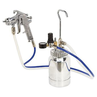Sealey Ssg1P Pressure Pot System With Spray Gun And Hoses 1.8Mm Set-Up