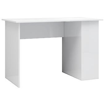 vidaXL Schreibtisch Hochglanz-Weiß 110×60×73 cm Spanplatte