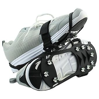Outdoor Ice Floes Gripper 10 Nails, Snow Crampons Strap Ice Stud Shoes Grip