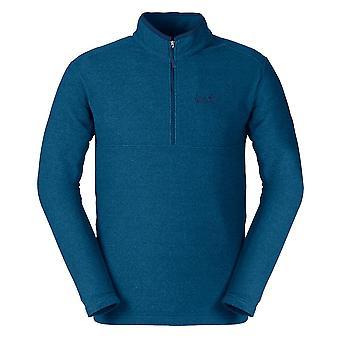 Jack Wolfskin Arco 1/4 Zip Mens Outdoor Fleece Sweatshirt Jumper Blue