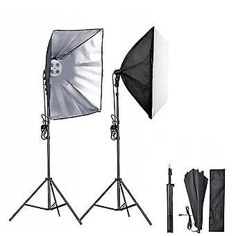 Softbox voor 4 lampen kantelbaar - 50 x 70 cm + verstelbaar statief