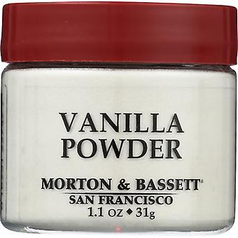 Morton & Bassett Seasoning Vanilla Powder, Case of 3 X 1.1 Oz