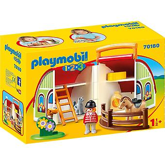 Playmobil 70180 1.2.3 My Take Along Farm for Children 18m+