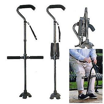 Multifunctional Aluminum Alloy Folding Telescopic Crutches For The Elderly