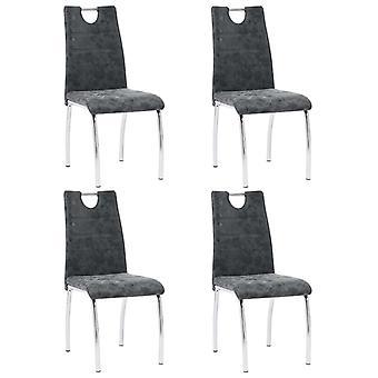 vidaXL chaises à manger 4 pcs. en simili-mà 2 noir