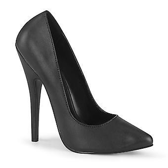 Devious Women's Shoes DOMINA-420 Blk Faux Leather