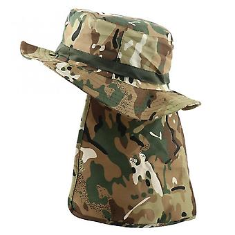 Tactical Camouflagehats Nepalese Cap Bucket Hat Militares Army Mens Military Hiking Fishing Hat With Flaps Uv Upf50+