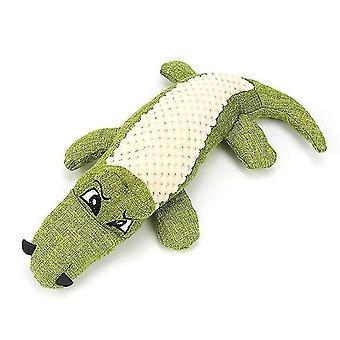 Simulaatio Krokotiili laulu koira lelu purenta kestävä koiran muhkea lelu (vihreä)