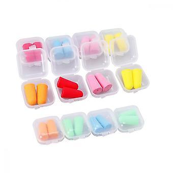 Sleep Earplugs, 12 Pairs Soft Sponge Noise Cancelling Ear Buds(6 Colors)