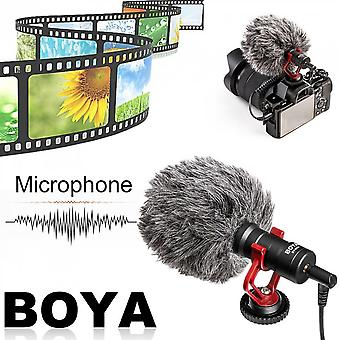 Boya Compact On-camera Video Microphone Interview Recording Mic For Smartphone