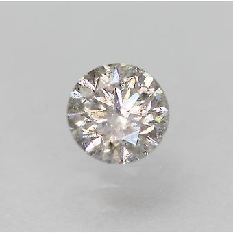 Certificado 0.35 Quilate i SI2 Rodada Brilhante Natural Diamante Solto 4.46mm EX CUT