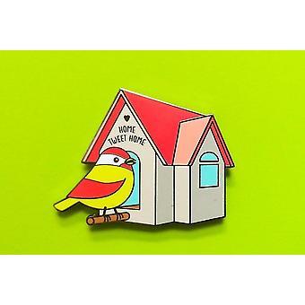 Home Tweet Home!-schattige Vogel Hard Emaille Pin