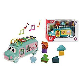 Bus jouet musical (30 x 10,9 x 19,2 cm)