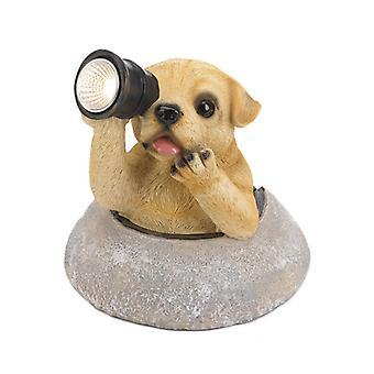 Summerfield Terrace Dog with Telescope Solar Garden Light, Pack of 1