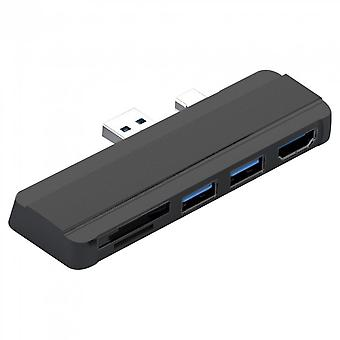 Usb Hub 3.0 Docking Station For Surface Pro 4/5/6 To Usb 3.0 Port Hdmi-compatible Tf Reader Splitter Adapter