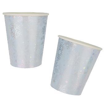 ندفة الثلج قزحي اللون - كأس